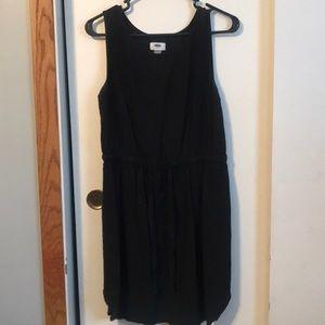 🗻Black Linen Tank Top Dress